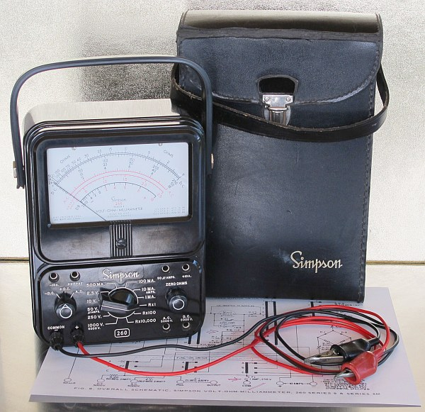729531 besides 729531 as well Electrical Wiring Diagrams For A Simpson 260 Multimeter moreover 221821104056 moreover Simpson Analog Multimeter. on simpson 260 ohm meter schematic