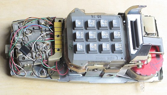 INSIDE TOUCH TONE WALL PHONE WESTERN ELECTRIC MODEL 2554 BMP on