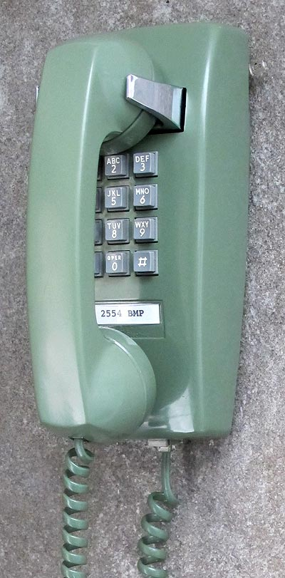 Touch Tone Wall Phone Western Electric Model 2554 Bmp