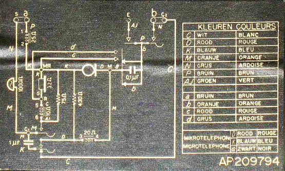 belgium   rtt 56 b telephone  1956